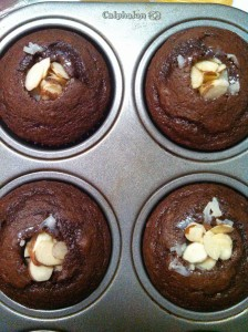 Filled Almond Joy Cupcakes