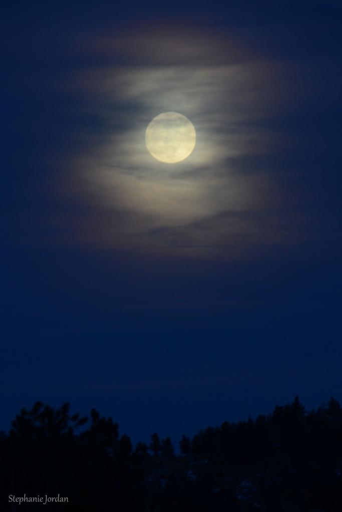 Moon in Estes Park